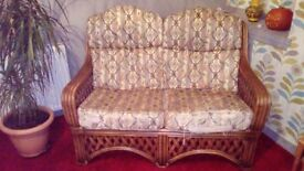 Cane suite 2 seater and 2 armchairs
