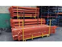 Pallet racking beams and uprights . used