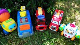 Big chunky cars vehicles bundle Fisher Price, Chicco