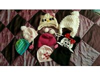 Girls bundle of hats suits from 5-8 years