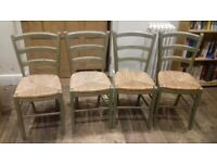 4 painted kitchen chairs