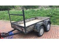 6ft twin axel trailer and driver with car