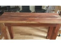 Solid Spanish Pine Consort Table