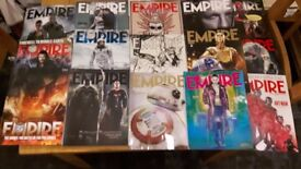 Empire Movie Magazines, 15 Issues 2014 - 2016, Star Wars, Spectre, Star Wars TFA, Collection Only