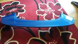 subaru impreza wrx rear spoiler in blue