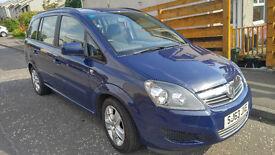 Vauxhall Zafira Exclusive 2013, 7 Seats 1.8i Patrol