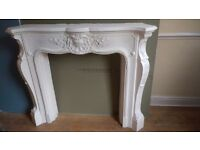 Plaster fire surround (used)