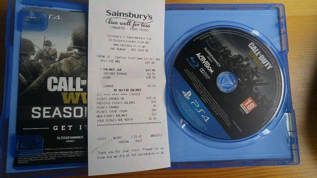 Call of Duty WWII PS4 (CoD WW2)