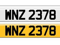 Cheap WNZ 2378 private cherished personalised personal registration plate number Fits any vehile