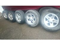 LAND ROVER BOOST ALLOY WHEELS 5 X 165 PCD