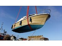 Shetland day cabin cruiser for sale. 5 year sea-worthiness cert, all in GWO. Reg serviced.