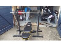 Reebok Zr10 Treadmill + Weights Set+Adjustable Bench+Adjustable Weights stands Full home gym :)
