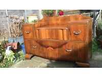 Vintage Wooden Dressing Table with Drawers