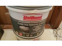 Unibond floor tile and grout adhesive