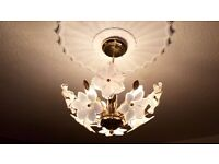 Beautiful ceiling & x3 wall light fittings bulk lot