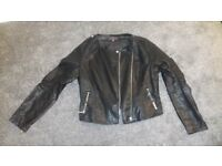 LADIES FASHION LEATHER JACKET THREE QUARTER