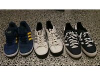 Addidas trainers, Vans, Puma, ...Shoes and boots.