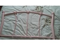 3ft pink metal bed