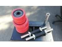 2in1 DUMBBELLS AND BARBELL SET