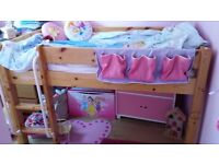 Thuka midsleeper cabin bed solid pine