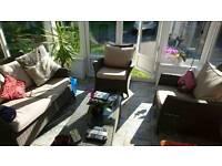 Hartman madison rattan lounge set with coffee table
