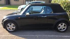 Black Mini One Convertible 2005 1.6 engine