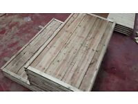 🌟Top Quality Heavy Duty Waneylap Pressure Treated Fence Panels 8mm Boards