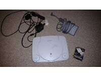 Sony PlayStation One (Slim) with Dancing Stage game and two dance mats