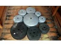 Plastic vinyl weights - can deliver for extra price