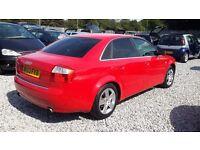 Audi A4 2393cc Petrol Saloon Red 2003 (53) Manual, MotExpires: 16 July 2017