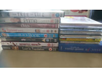 Random collection of DVDs and CDs