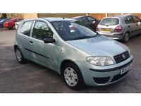 1.2 fiat punto 3 door manual petrol 2003 year 77000 mile history mot till 8/5/17 12month aa cover