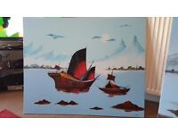 Oil paintings for sale by well-known Dundee artist and Poet J.C Thomas