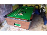 Pub - POOL Table - Snooker - Full Size Pub Table - Vintage - Restored - Coin Operated - Cues & Balls
