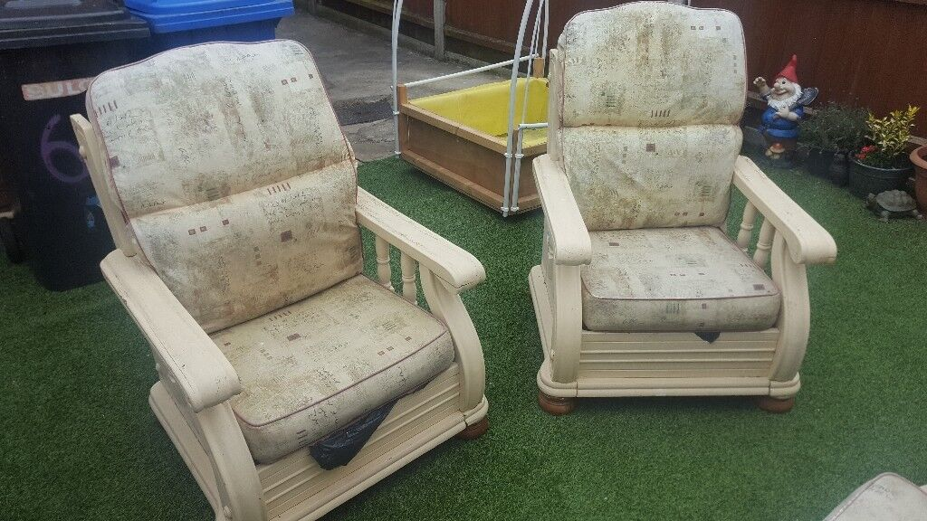 Garden furniture. 2 seater sofa and 2 single seats | in ...