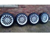 4 Genuine OEM BMW 17 Alloy Wheels Blizzak Winter Tyres E90 E91 E92 E93 284 Style