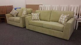 Ex Display 3 & 2 Seater Fabric Sofas **CAN DELIVER**