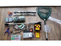 Fishing gear kit, job lot. Full equipment for beginner.