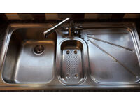 Franke kitchen sink and taps