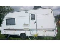 Elddis 2 berth caravan with inflatable awning