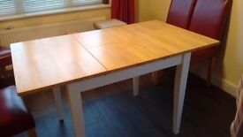 Extending Two tone dining table