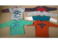 18-24 months baby boys clothes long sleeve t-shirt bundle 20p each or all 6 for £1