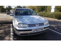 VOLKSWAGEN GOLF S 1.6, SERVICE HISTORY.TIMING BELT CHANGED £800