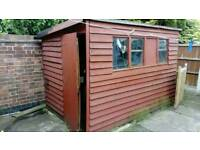 Garden shed with electrics