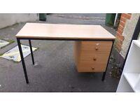 Free desk, pc desk and shelves.