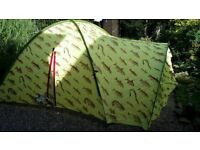 Rare Ted Baker 3 man tent in very good condition