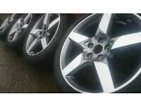"""*NEW* GENUINE JAGUAR 18"""" STAR ALLOY WHEELS & TYRES 5X108 XE XF FORD"""