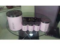 Kitchen storage tins.