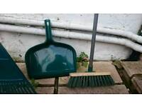 Outdoor broom and dustpan set