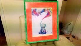 Elephant 🐘 poster lovingly framed